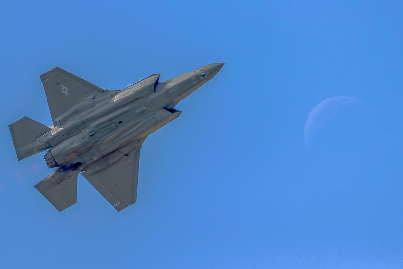 F-35A over the Moon