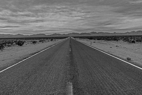 Death Valley Road B&W