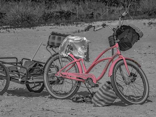 Pink Beach Bike B&W - Color