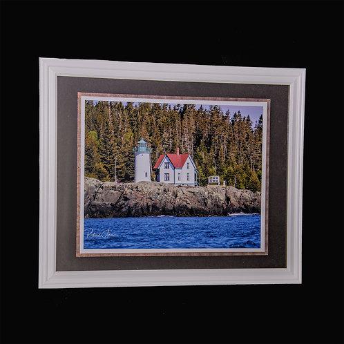 Framed Maine Coastal Lighthouse 11x14 framed