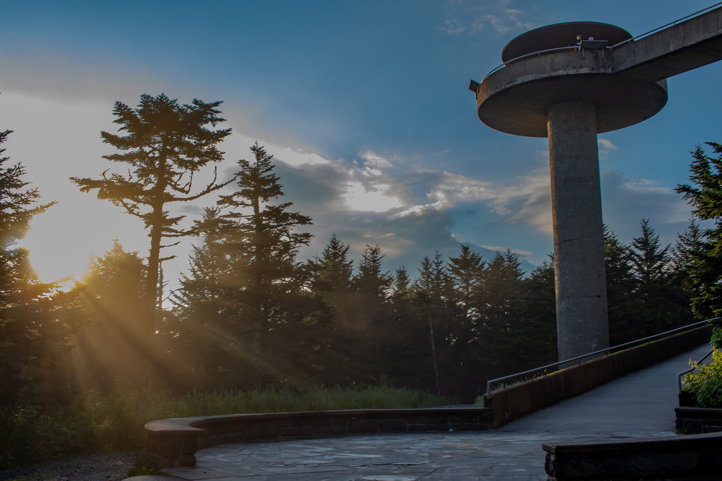 Clingmans Dome Sun Rays