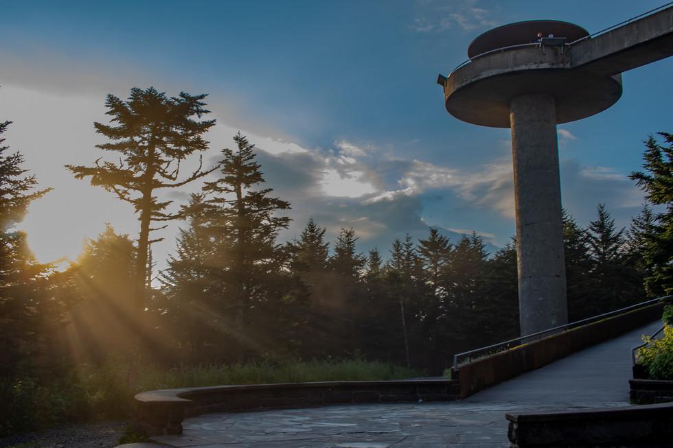 Clingmans Dome Sun Rays