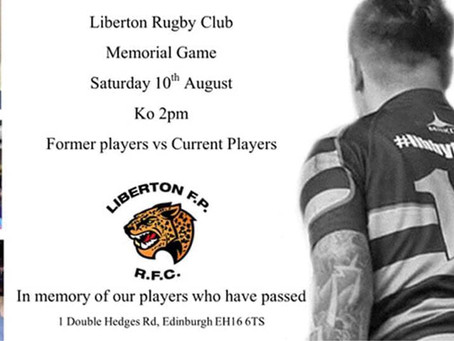 Memorial match tomorrow!