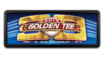 2021 Lighted Golden Tee Marquee