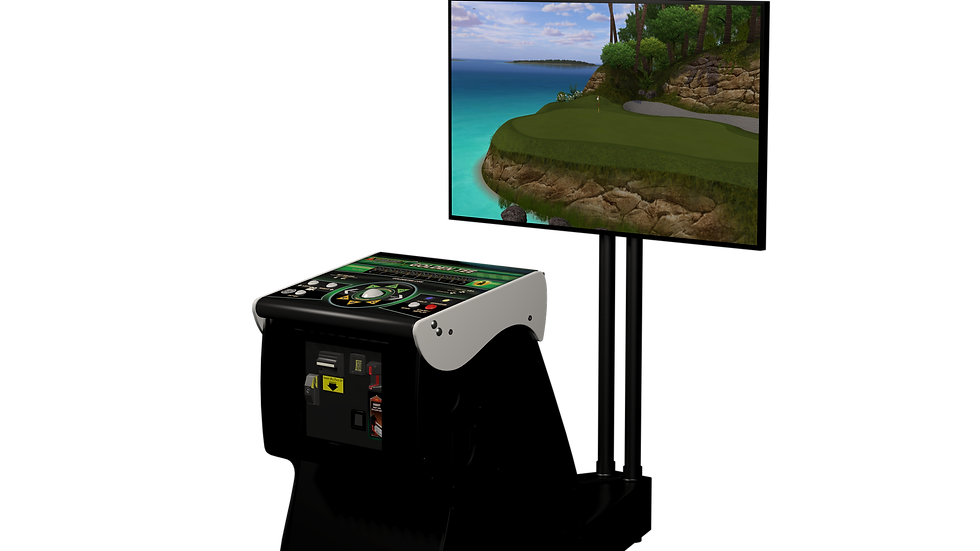 2021 Golden Tee Golf Commercial LIVE Arcade NEW IT Factory Ped WITH STAND