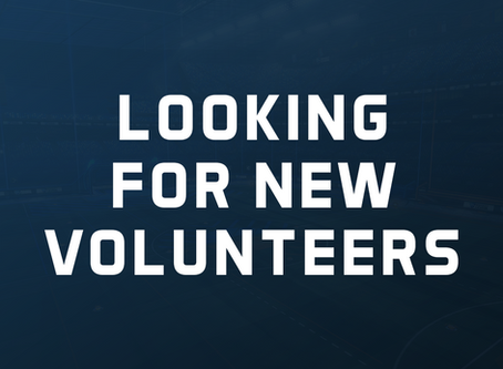 We are looking for new volunteers.
