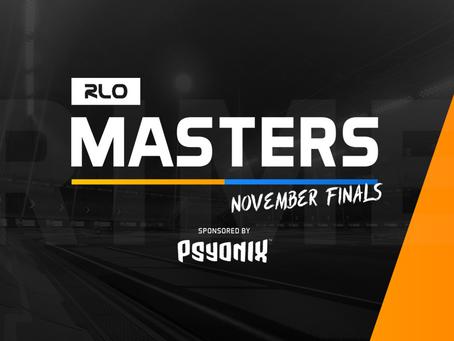 2020 RLO MASTERS NOVEMBER FINALS PRIMER