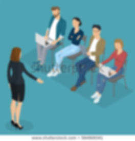 isometric-people-briefing-instruction-ed