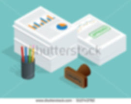 stock-vector-isometric-stack-of-document
