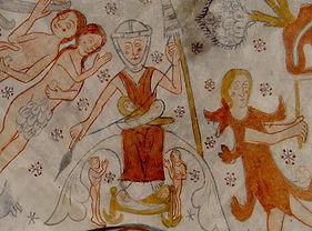 KirkerupKirke Eva kalkmaleri.jpg