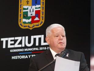 En Teziutlán, misión cumplida en seguridad pública, confirma Carlos Peredo en su 2do informe de Gobi
