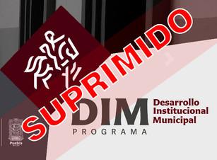Barbosa Huerta ordena desaparecer el Programa de Desarrollo Institucional Municipal (DIM)