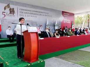 Al conmemorar la Batalla del 5 de mayo 1862, Barbosa Huerta honra a héroes de México