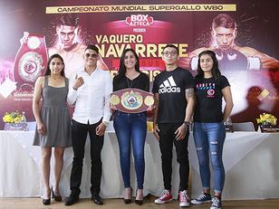 """Emanuel """"Vaquero"""" Navarrete defenderá en Puebla título Supergallo de la OMB"""