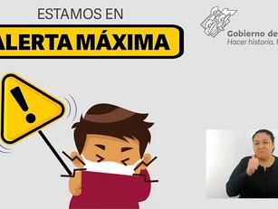 Continúa la Alerta Máxima en Puebla
