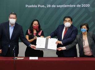 Puntual, el gobernador Barbosa pide a alcaldes clausurar empresas que contaminen el río Atoyac