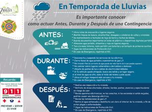Medidas preventivas en temporada de lluvias en Zaragoza