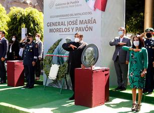 Ceremonia conmemorativa al CCLV Aniversario del Natalicio del General José María Morelos y Pavón
