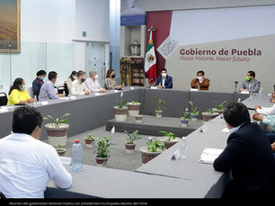 Reunión del gobernador Barbosa Huerta con presidentes municipales electos del PVEM