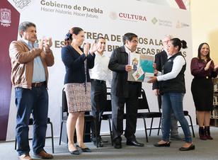 El gobernador Miguel Barbosa dará estímulos para fomentar el hábito a la lectura en Puebla