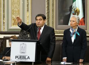 En Puebla, gobierno humano, progresista y democrático: Miguel Barbosa Huerta