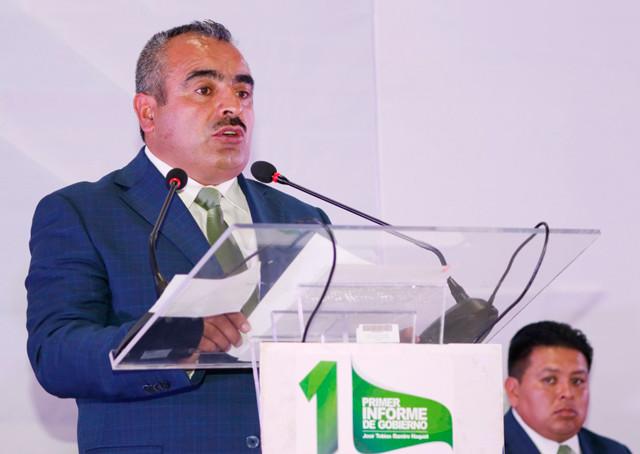 El presidente municipal, José Tobías Ramiro Haquet, rindió su 1er Informe de Gobierno en Zaragoza, Puebla