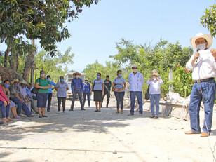 En Tenampulco se construye obra pública útil y funcional para el pueblo: Calderón Jiménez
