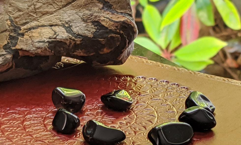 Obsidian crystals