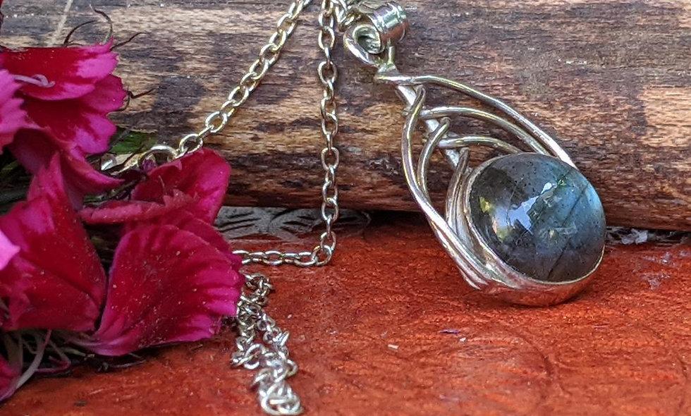 Labradorite  & Silver Pendant