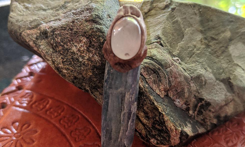 Kyanite & Rose Quartz pendant