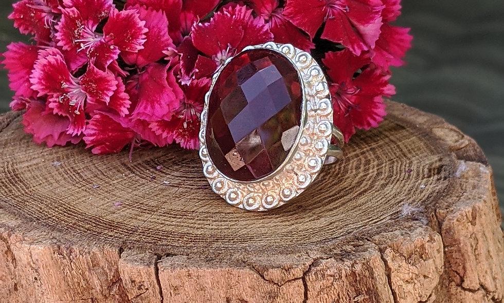 Mozambique Garnet Ring