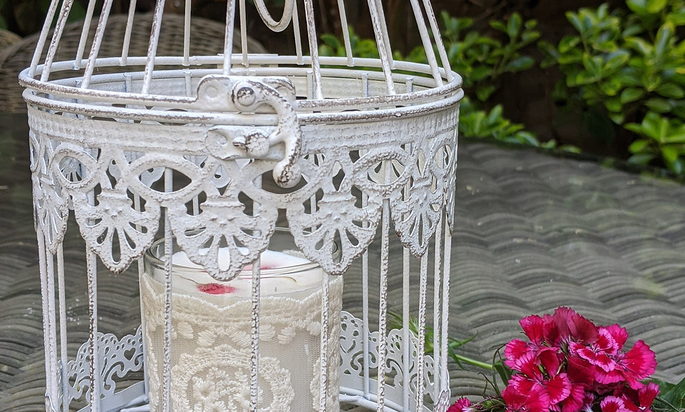 Birdcage with soya wax and essential oil candle