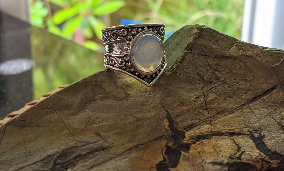Moonstone  & Siver Ring