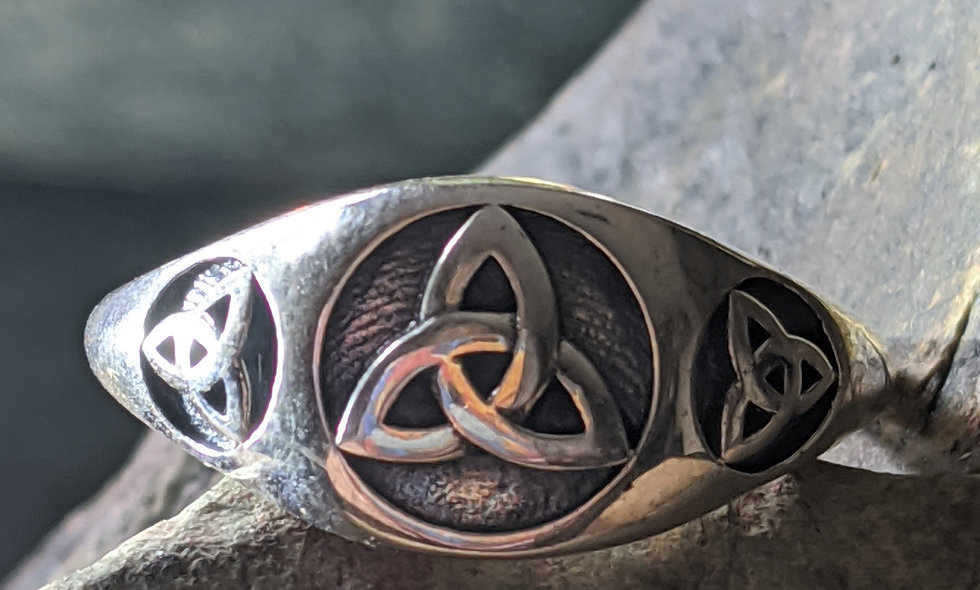 Handcrafted Silver Triquetra  Ring