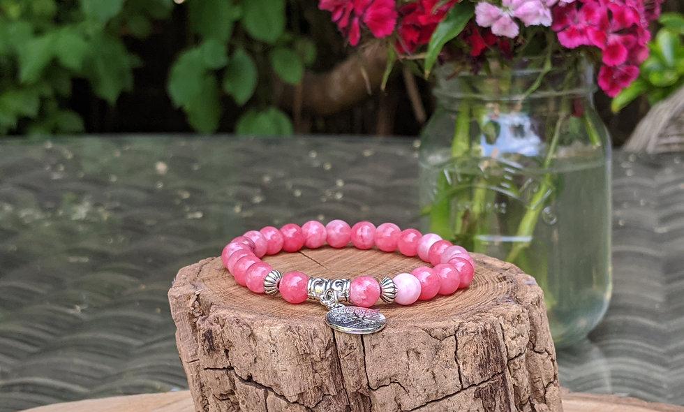 Picasso Pink Jasper Crystal Bracelet