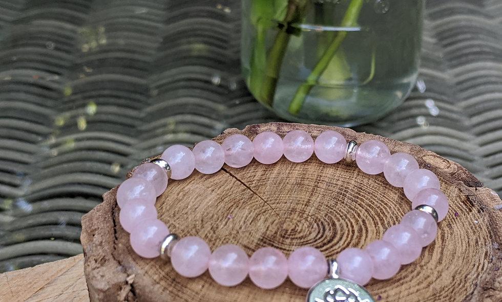 Rose Quarts Crystal Bracelet