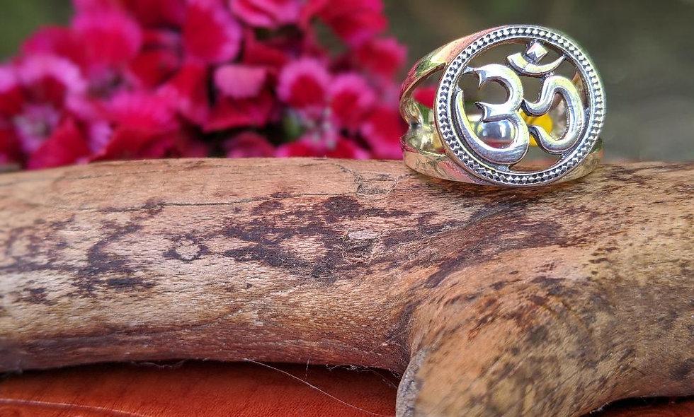 Handmade  silver OM ring