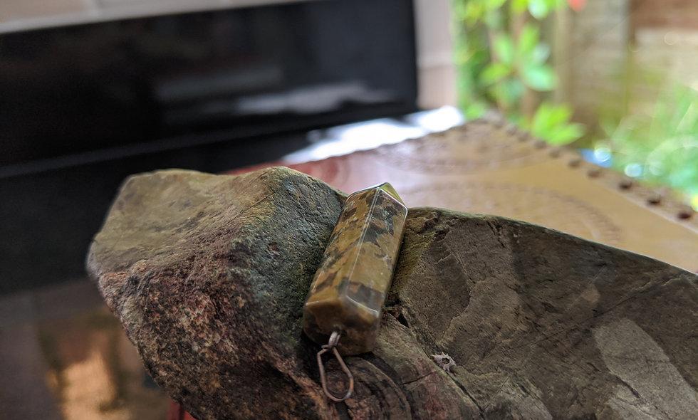 Handmade  kambaba jasper pendant