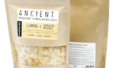 Himalayan Bath Salts: Energy -  lemon, orange and ginger