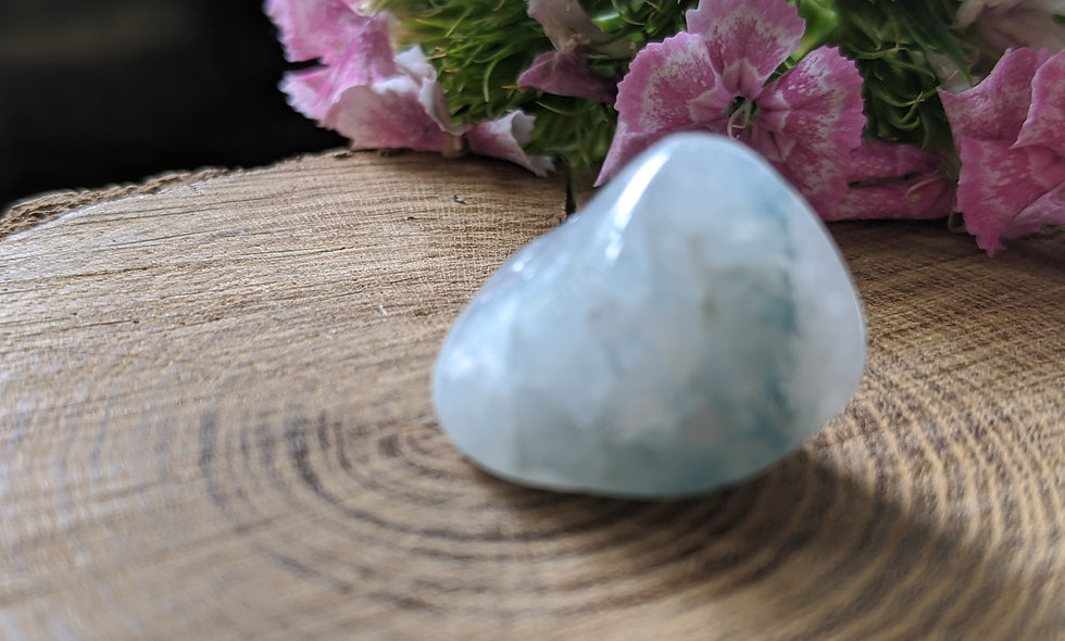 Aqualite (Apatite in Quartz) Rare High Vibration Crystal