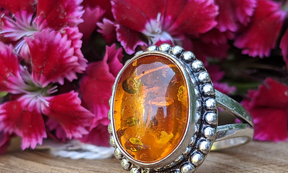 Handcrafted Amber Ring