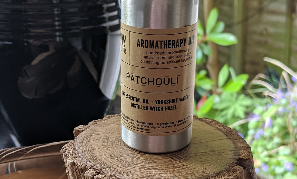 Pure Patchouli essential oil aromatherapy mist