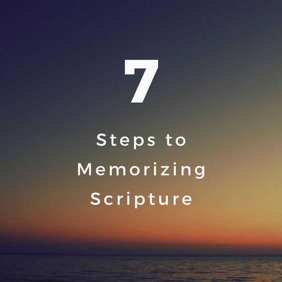 7 Steps to Memorizing Scripture
