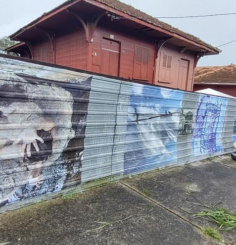 Montagem da exposição na Vila