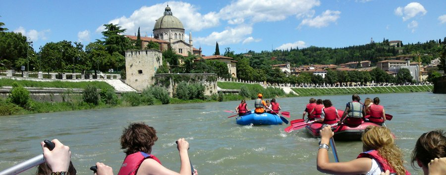 Rafting on the River Adige