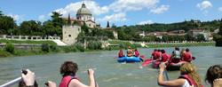 Rafting on the River Adige