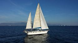 Sailing across the Gulf of Cagliari