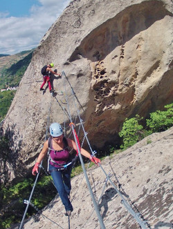 Climbing routes Dolomites...
