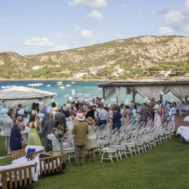 A beach wedding sardinia