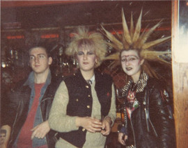 unbound soap mark, me and addy. 1982_3 at the 100 club t our usual spot, by the bar..jpg